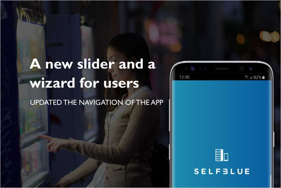 SELFBLUE. Added an initial slider and a wizard for new users of the app