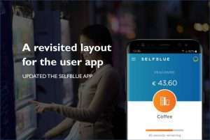 SELFBLUE. A more appealing layout for the user app