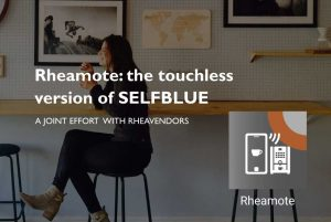 SELFBLUE. Peachwire and Rheavendors together launch RHEAMOTE, the Selfblue wallet combined with a touchless interface